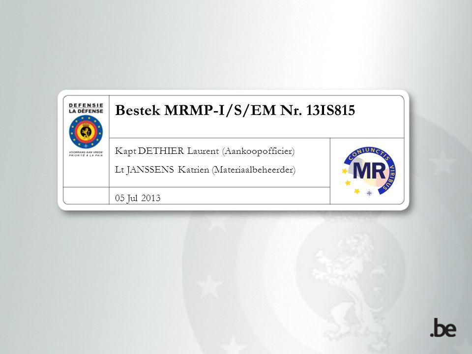 Bestek MRMP-I/S/EM Nr.