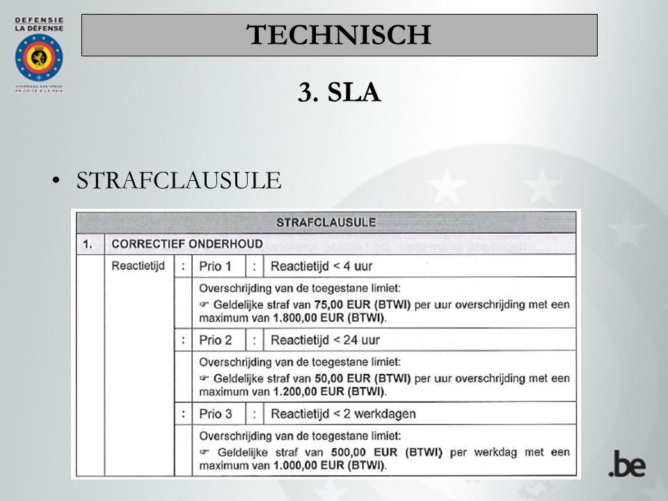 STRAFCLAUSULE 3. SLA TECHNISCH