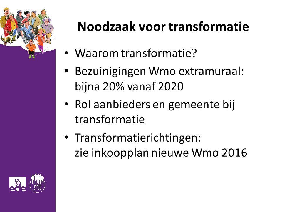 Noodzaak voor transformatie Waarom transformatie.