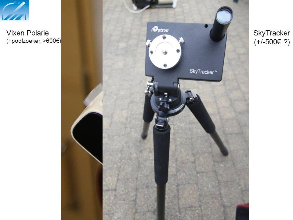"Compacte volgsystemen: 2) ""volgklokje"" Vixen Polarie (+poolzoeker: >600€) SkyTracker (+/-500€ ?)"