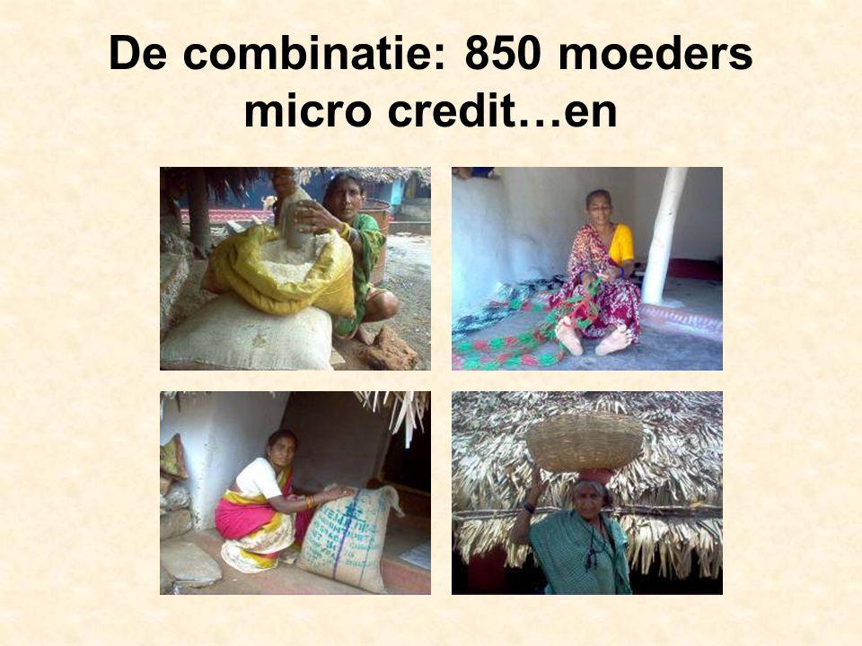 De combinatie: 850 moeders micro credit…en
