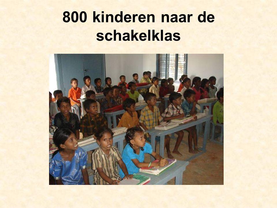 800 kinderen naar de schakelklas