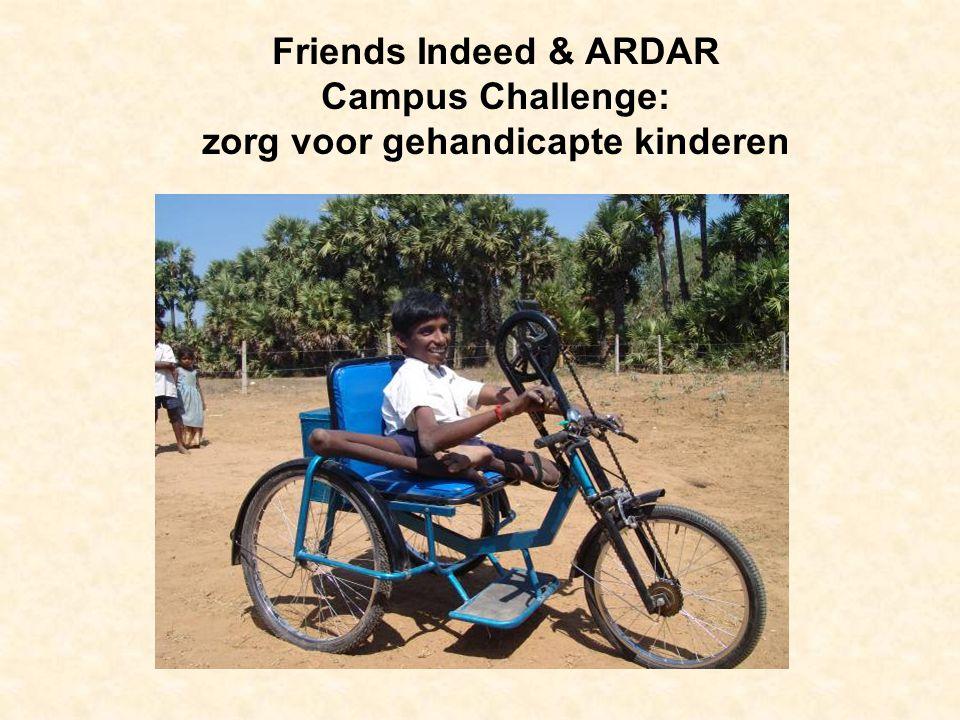 Friends Indeed & ARDAR Campus Challenge: zorg voor gehandicapte kinderen