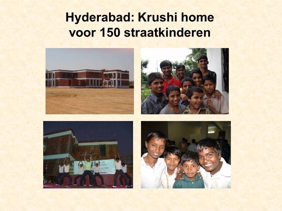 Hyderabad: Krushi home voor 150 straatkinderen