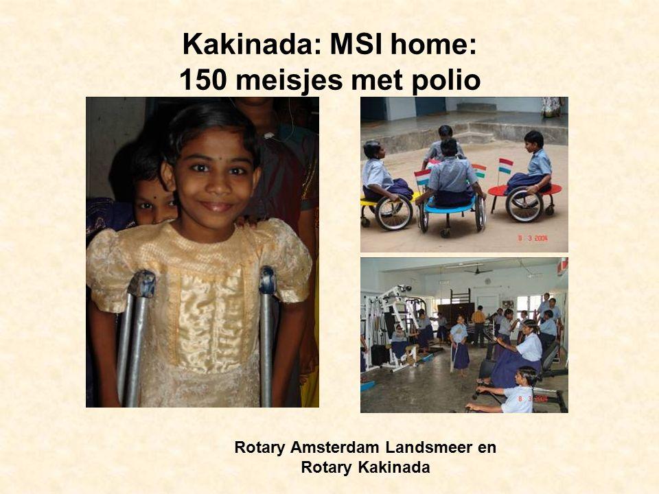 Kakinada: MSI home: 150 meisjes met polio Rotary Amsterdam Landsmeer en Rotary Kakinada