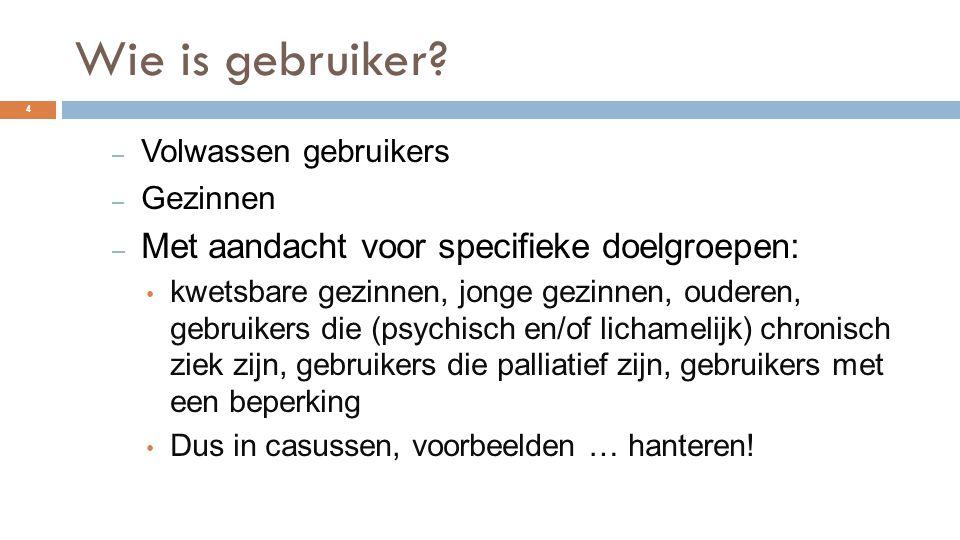Presentie als middel tot het zoeken van aansluiting met gebruikers  http://www.presentie.nl/video/uit-het- werkveld/item/406-meridiaan http://www.presentie.nl/video/uit-het- werkveld/item/406-meridiaan 15