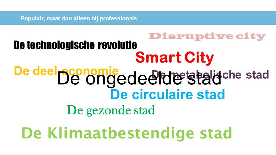 Populair, maar dan alleen bij professionals De technologische revolutie De deel-economie De circulaire stad Smart City De gezonde stad De Klimaatbeste