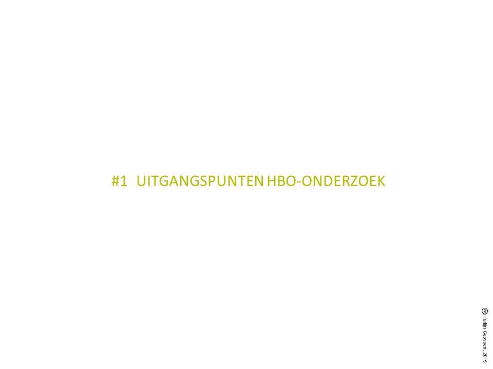 #1UITGANGSPUNTEN HBO-ONDERZOEK Karlijn Goossen, 2015