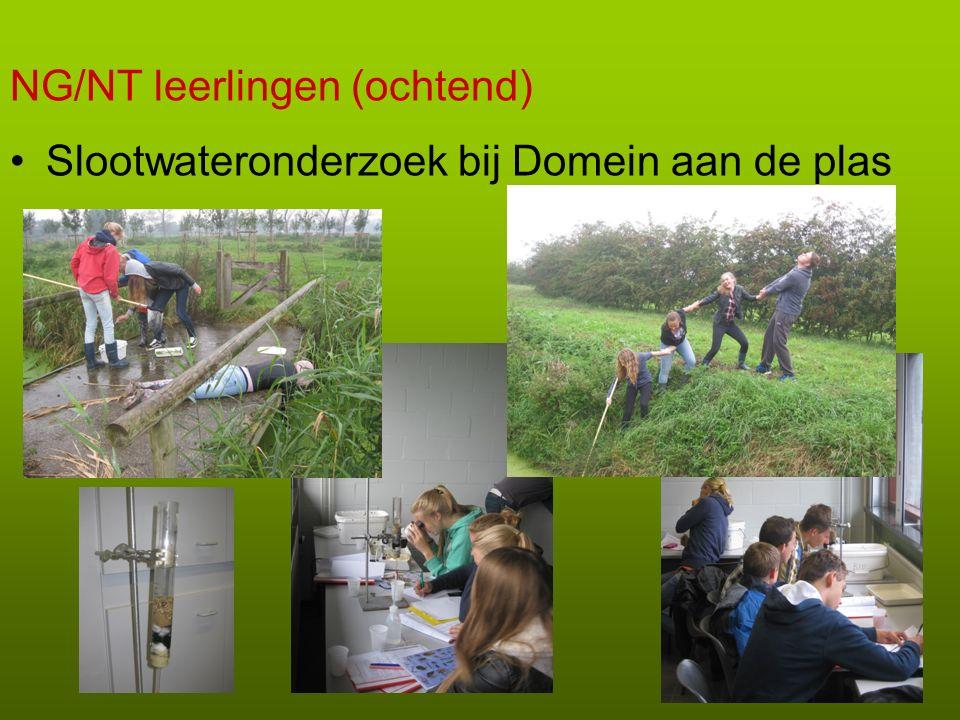 NG/NT leerlingen (ochtend) Slootwateronderzoek bij Domein aan de plas
