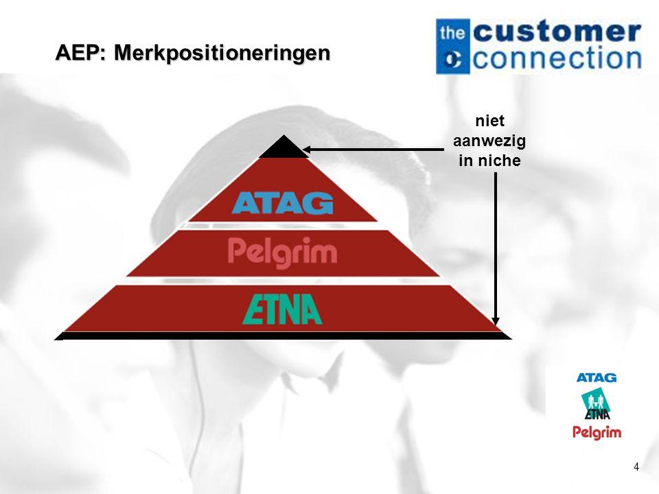 4 AEP: Merkpositioneringen niet aanwezig in niche