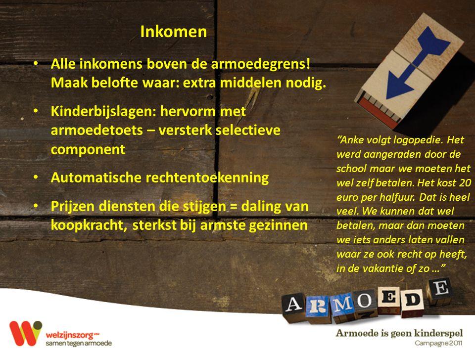 Inkomen Anke volgt logopedie.