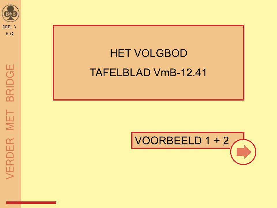 VOORBEELD 1 + 2 HET VOLGBOD TAFELBLAD VmB-12.41 DEEL 3 H 12