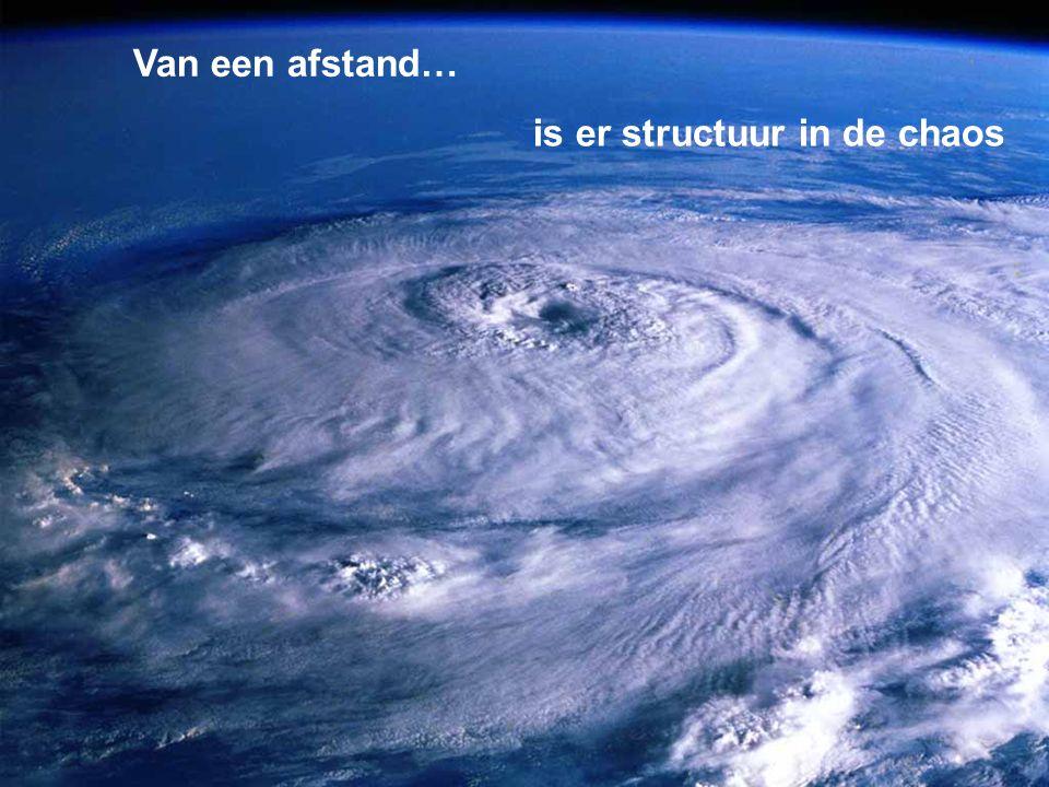 is er structuur in de chaos Van een afstand…