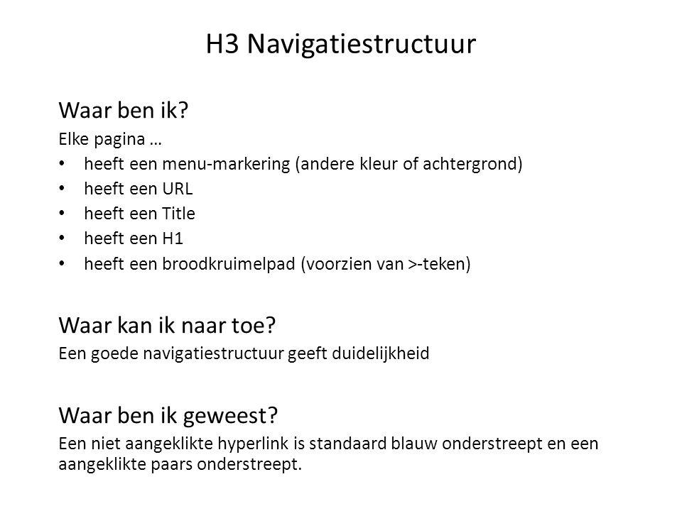 H3 Navigatiestructuur Waar ben ik.