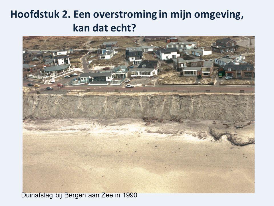 Hoofdstuk 2. Een overstroming in mijn omgeving, kan dat echt Duinafslag bij Bergen aan Zee in 1990