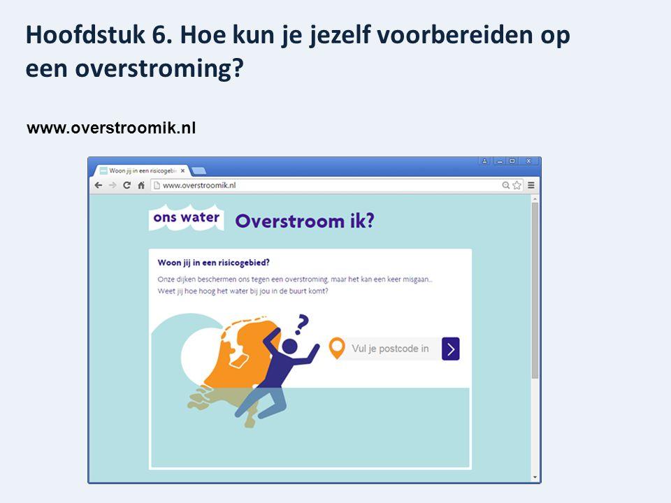 www.overstroomik.nl Hoofdstuk 6. Hoe kun je jezelf voorbereiden op een overstroming