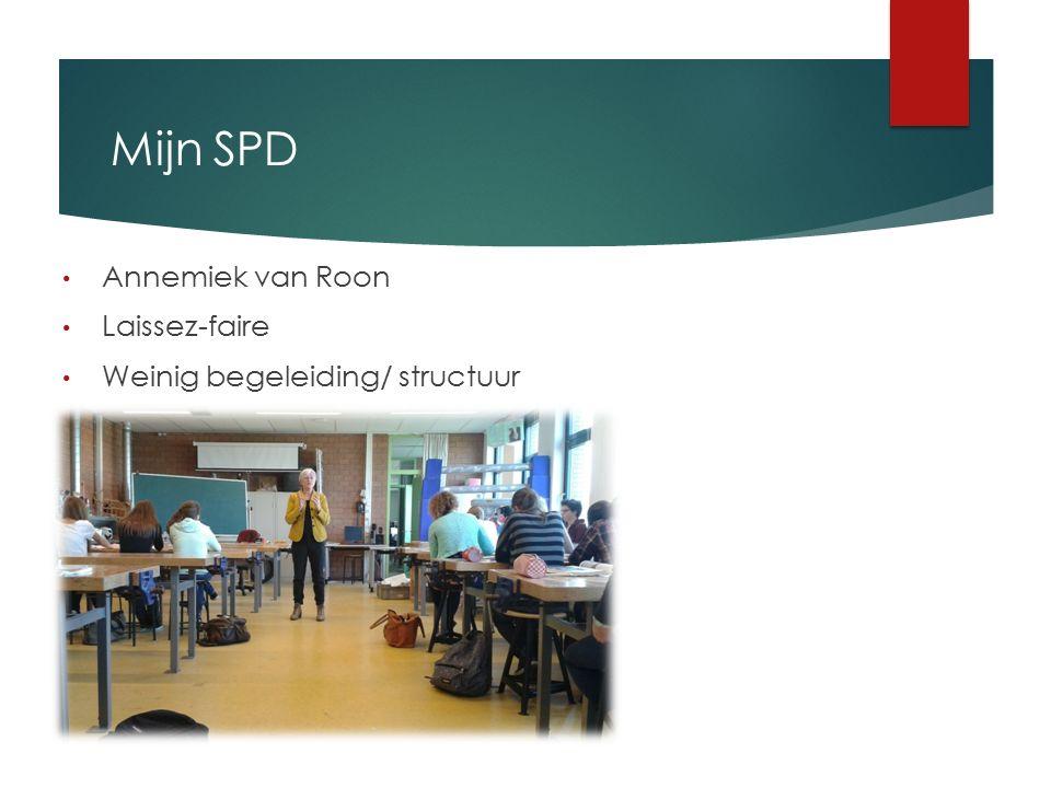 Mijn SPD Annemiek van Roon Laissez-faire Weinig begeleiding/ structuur