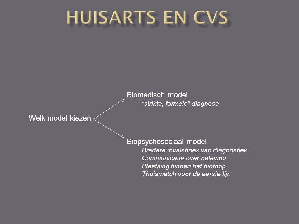 "Welk model kiezen Biomedisch model ""strikte, formele"" diagnose Biopsychosociaal model Bredere invalshoek van diagnostiek Communicatie over beleving Pl"