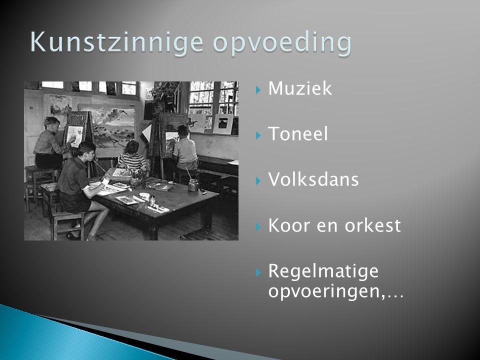  Muziek  Toneel  Volksdans  Koor en orkest  Regelmatige opvoeringen,…