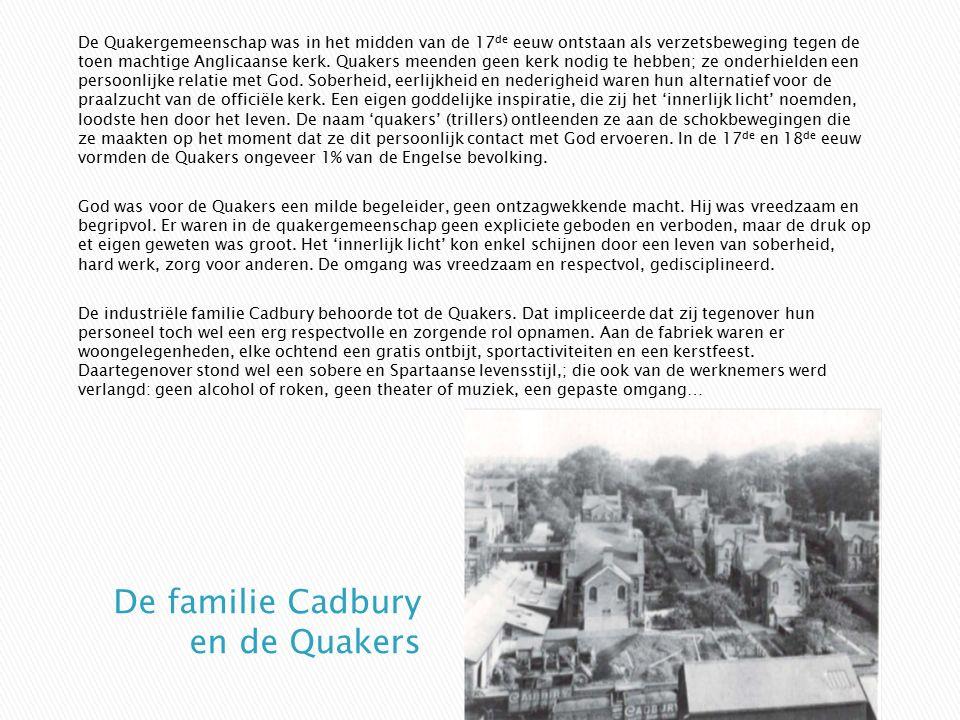 De Quakergemeenschap was in het midden van de 17 de eeuw ontstaan als verzetsbeweging tegen de toen machtige Anglicaanse kerk. Quakers meenden geen ke