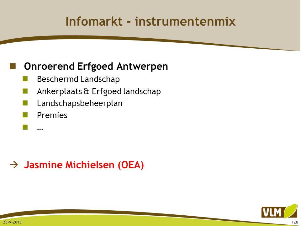 Infomarkt - instrumentenmix Onroerend Erfgoed Antwerpen Beschermd Landschap Ankerplaats & Erfgoed landschap Landschapsbeheerplan Premies …  Jasmine M