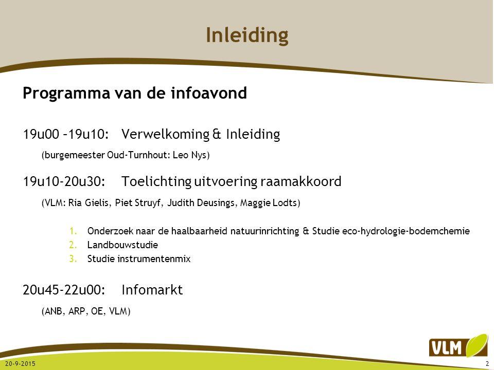 Inleiding Programma van de infoavond 19u00 –19u10:Verwelkoming & Inleiding (burgemeester Oud-Turnhout: Leo Nys) 19u10-20u30:Toelichting uitvoering raa
