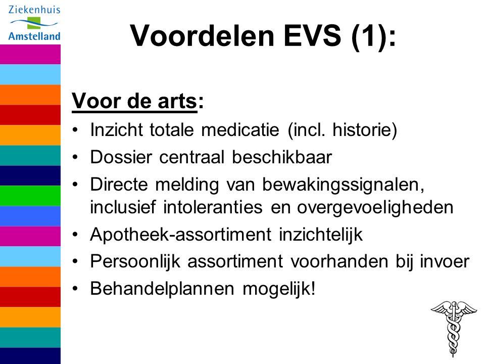 Voordelen EVS (1): Voor de arts: Inzicht totale medicatie (incl.