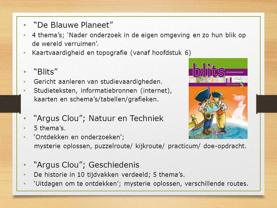"""""""De Blauwe Planeet"""" 4 thema's; 'Nader onderzoek in de eigen omgeving en zo hun blik op de wereld verruimen'. Kaartvaardigheid en topografie (vanaf hoo"""