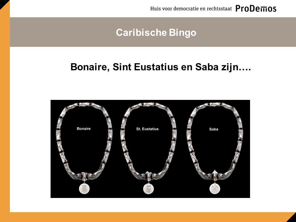 Bonaire, Sint Eustatius en Saba zijn…. Caribische Bingo