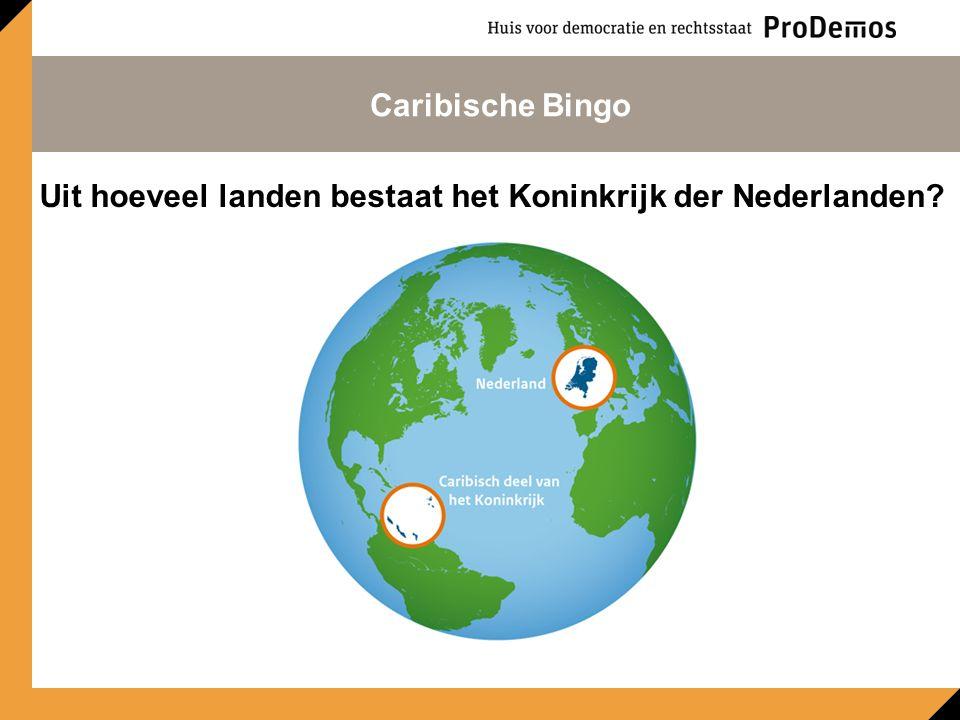 Uit hoeveel landen bestaat het Koninkrijk der Nederlanden Caribische Bingo