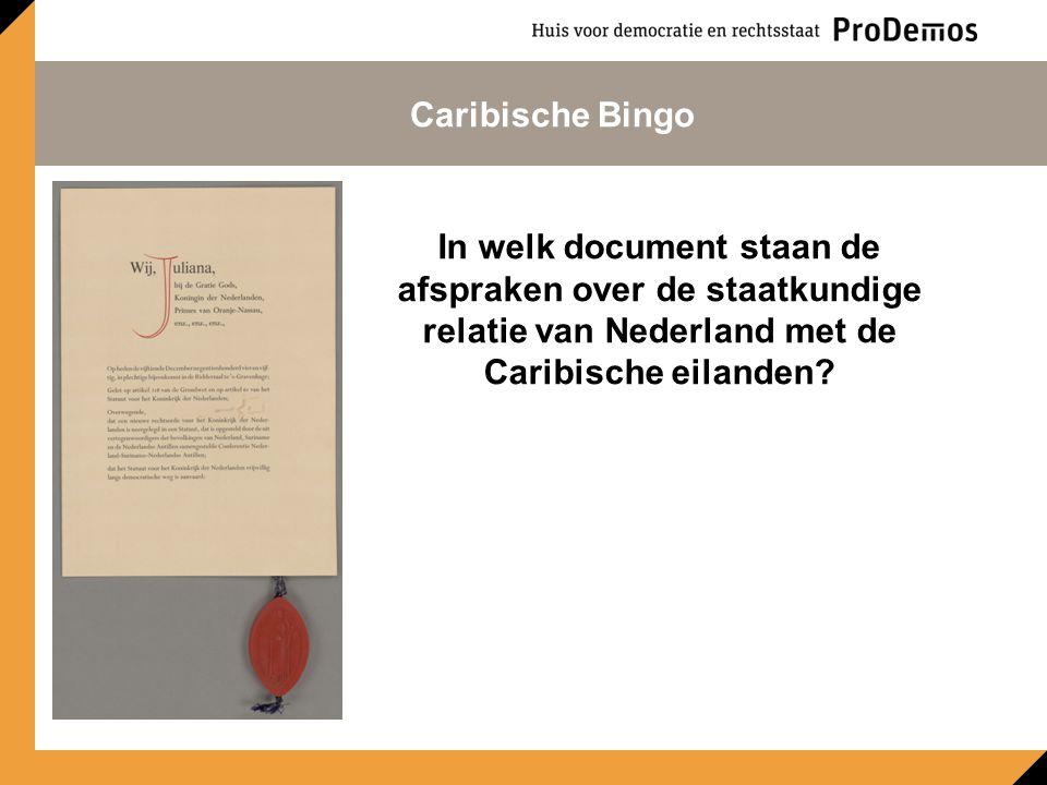 In welk jaar werd de slavernij in Nederland afgeschaft? Caribische Bingo