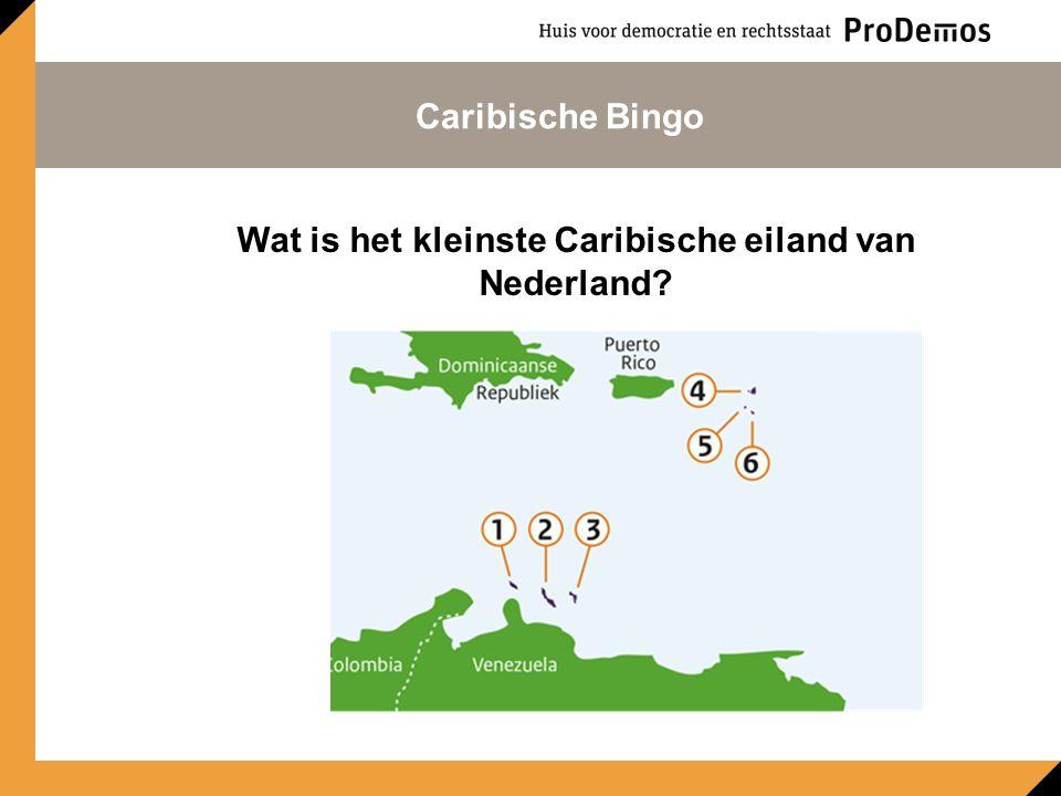 Wat is het kleinste Caribische eiland van Nederland Caribische Bingo