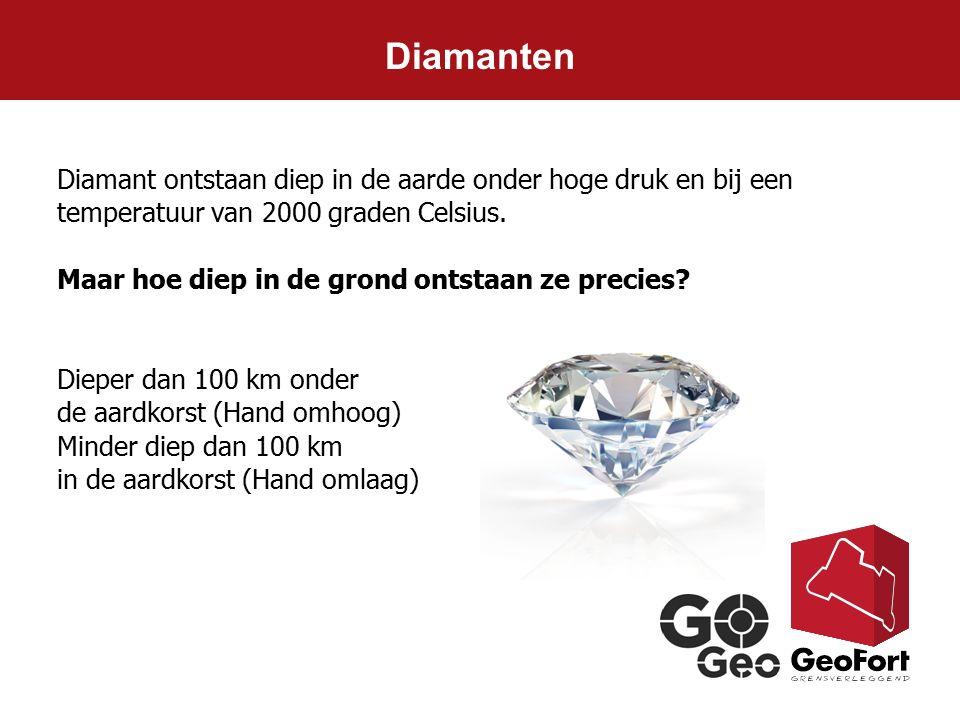 Diamant ontstaan diep in de aarde onder hoge druk en bij een temperatuur van 2000 graden Celsius. Maar hoe diep in de grond ontstaan ze precies? Diepe