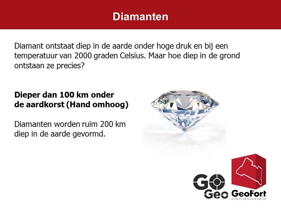 Diamant ontstaat diep in de aarde onder hoge druk en bij een temperatuur van 2000 graden Celsius. Maar hoe diep in de grond ontstaan ze precies? Diepe