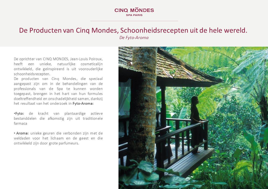 De oprichter van CINQ MONDES, Jean-Louis Poiroux, heeft een unieke, natuurlijke cosmeticalijn ontwikkeld, die ge ï nspireerd is uit voorouderlijke sch
