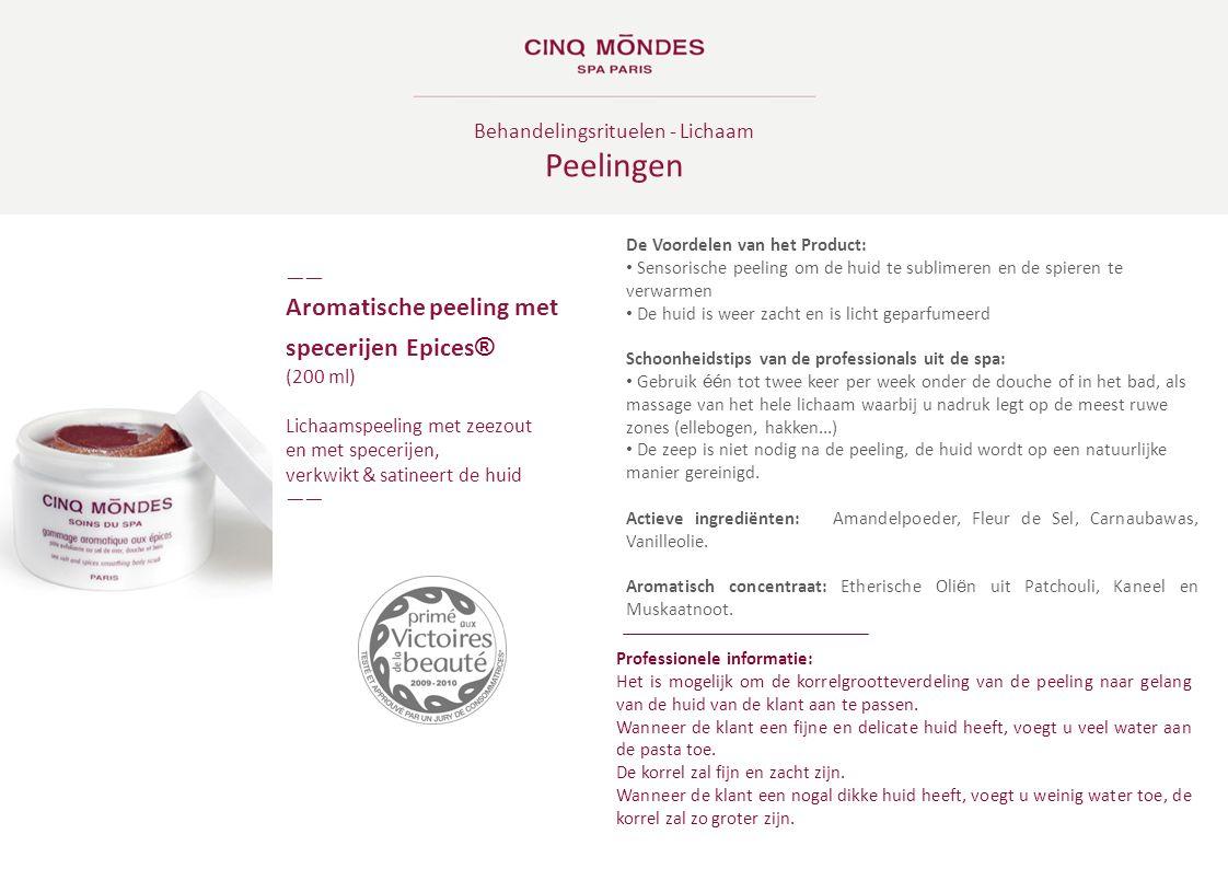 Behandelingsrituelen - Lichaam Peelingen ―― Aromatische peeling met specerijen Epices ® (200 ml) Lichaamspeeling met zeezout en met specerijen, verkwi