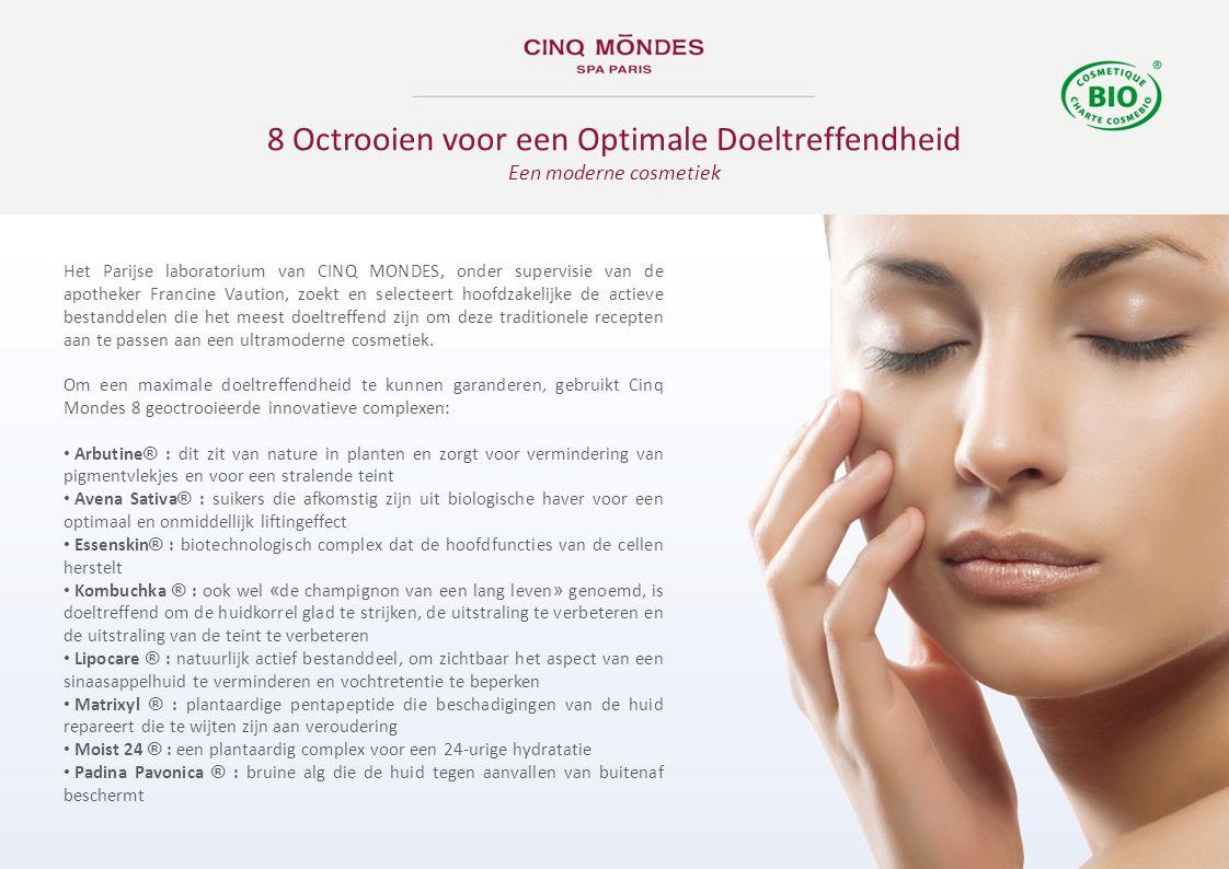 Het Parijse laboratorium van CINQ MONDES, onder supervisie van de apotheker Francine Vaution, zoekt en selecteert hoofdzakelijke de actieve bestanddel