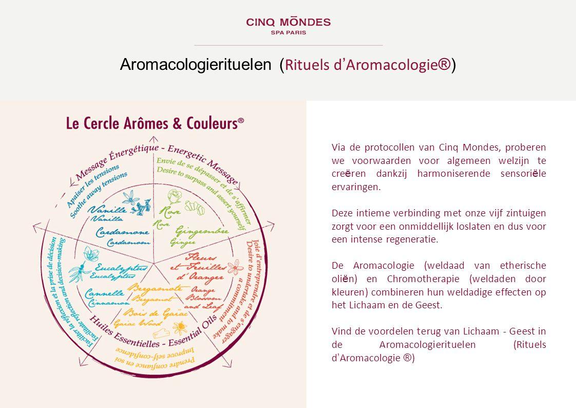 Via de protocollen van Cinq Mondes, proberen we voorwaarden voor algemeen welzijn te cre ë ren dankzij harmoniserende sensori ë le ervaringen. Deze in