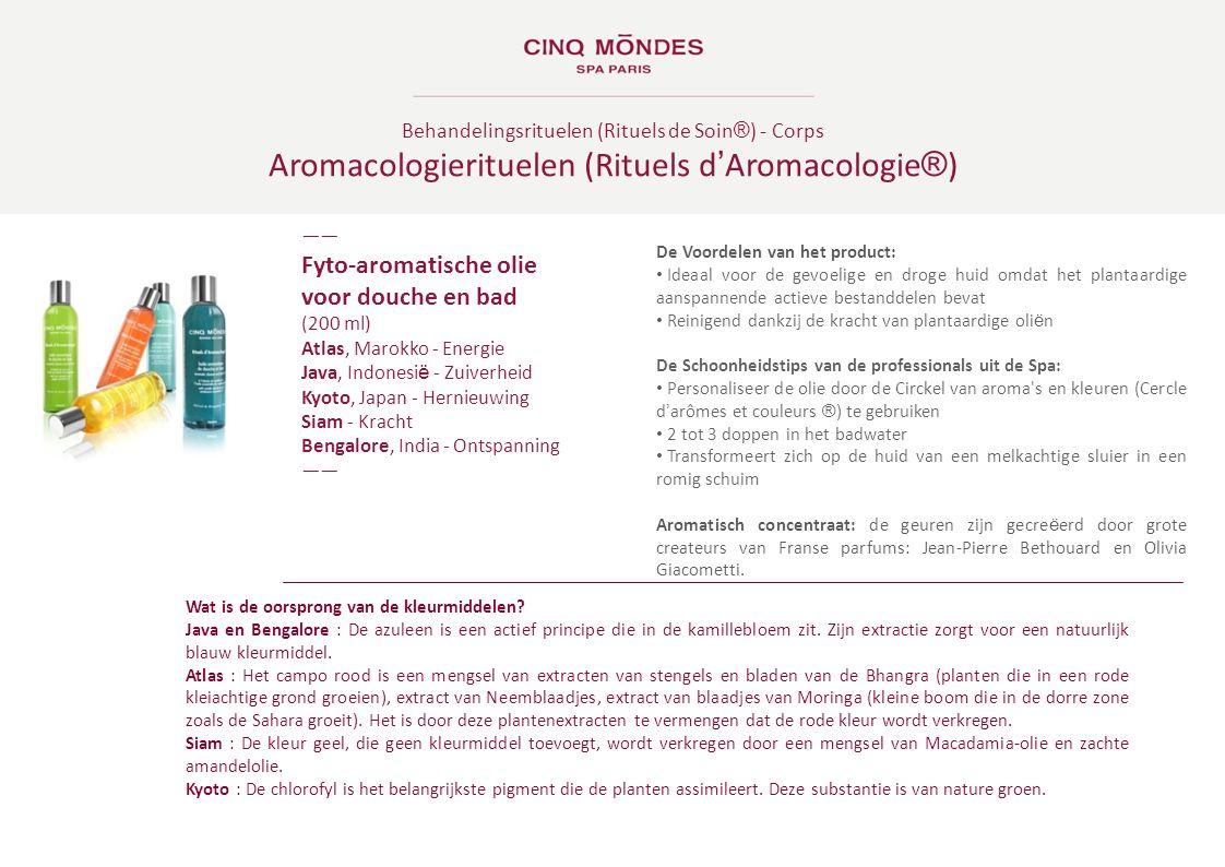 Behandelingsrituelen (Rituels de Soin ® ) - Corps Aromacologierituelen (Rituels d ' Aromacologie ® ) ―― Fyto-aromatische olie voor douche en bad (200