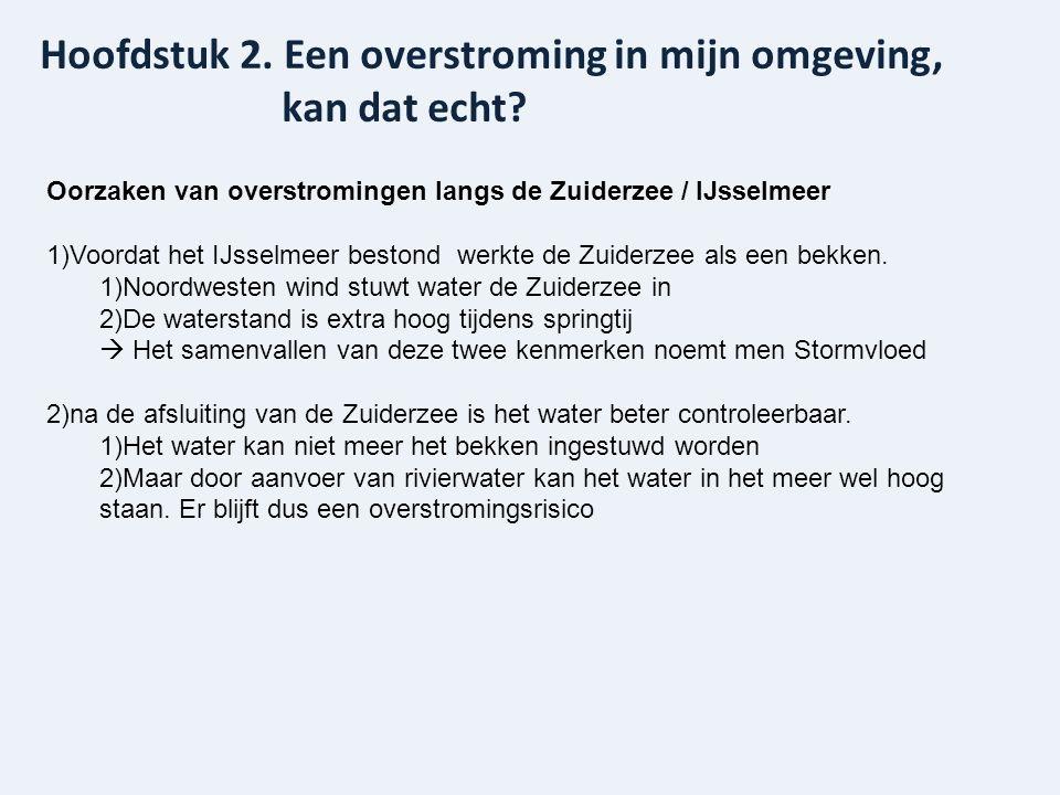 Hoofdstuk 2. Een overstroming in mijn omgeving, kan dat echt? Oorzaken van overstromingen langs de Zuiderzee / IJsselmeer 1)Voordat het IJsselmeer bes