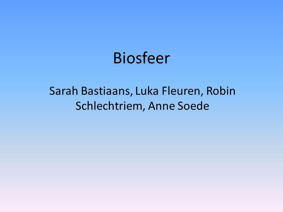 Inleiding De opdracht is om, met één artikel als beginpunt, een weg langs de verschillende aspecten van biosfeer af te leggen.