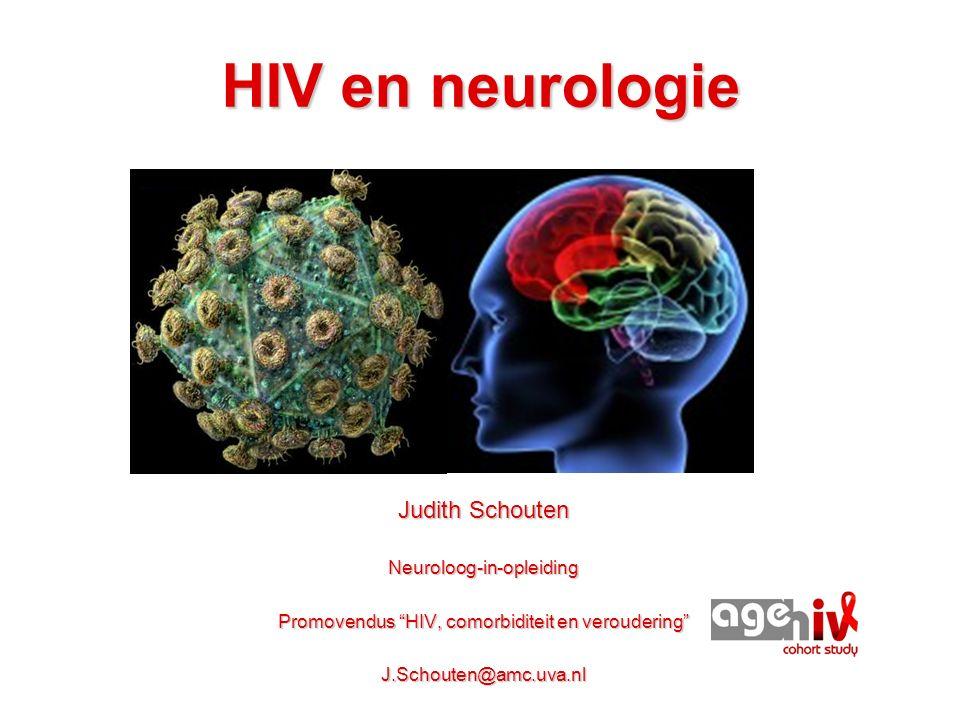HIV dementie en cART - Sinds de beschikbaarheid van HIV-remmers (cART): HIV dementie zeldzaam - Heel soms komt HIV dementie nog voor: - Patiënten die de medicatie niet goed innemen - Patiënten die pas zeer laat erachter komen dat ze HIV hebben - Patiënten bij wie het virus ernstig gemuteerd is en de med niet goed meer werkt