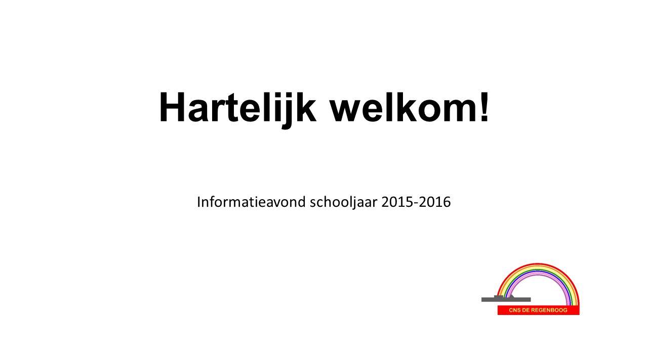 Hartelijk welkom! Informatieavond schooljaar 2015-2016