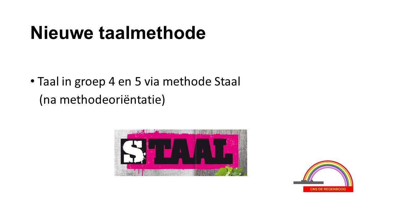 Nieuwe taalmethode Taal in groep 4 en 5 via methode Staal (na methodeoriëntatie)