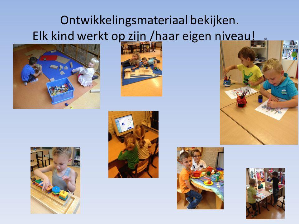 Ontwikkelingsmateriaal bekijken. Elk kind werkt op zijn /haar eigen niveau! m