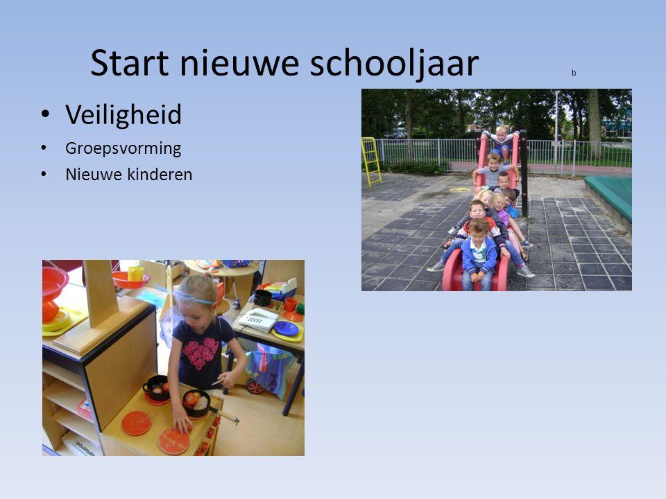 Start nieuwe schooljaar b Veiligheid Groepsvorming Nieuwe kinderen