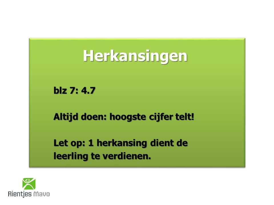 e.Nederlands: tenminste een 5 f.Cijfer voor de rekentoets moet 4,5 of hoger zijn!