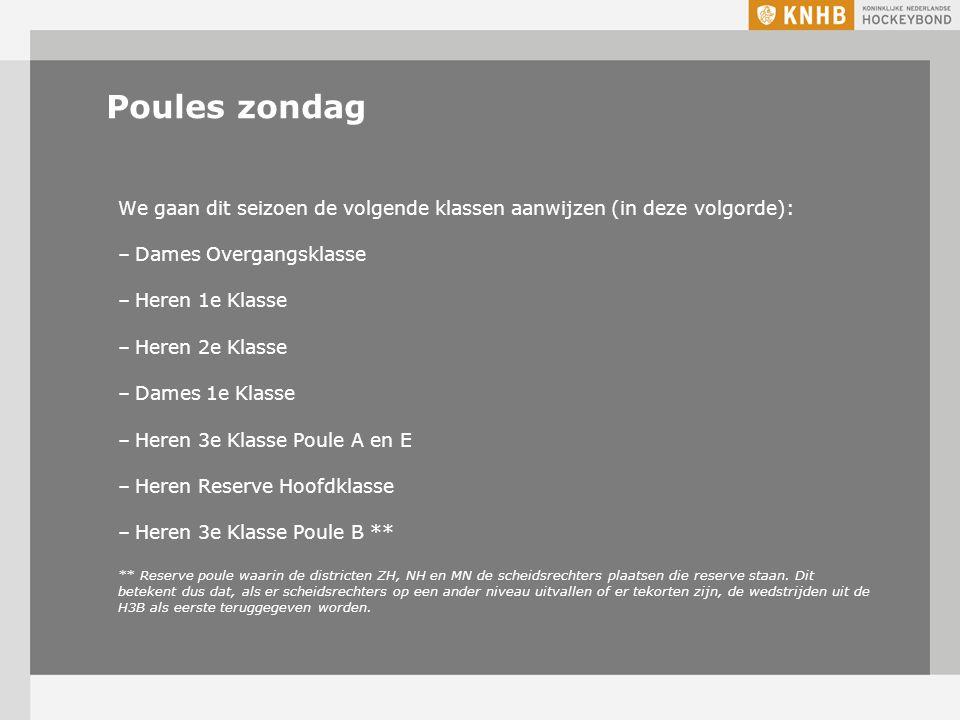 Poules zaterdag Vanwege een tekort aan bondsarbitrage op de zaterdag is het helaas niet mogelijk om alle wedstrijden in Voorcompetitie Jongens en Meisjes A aan te wijzen.