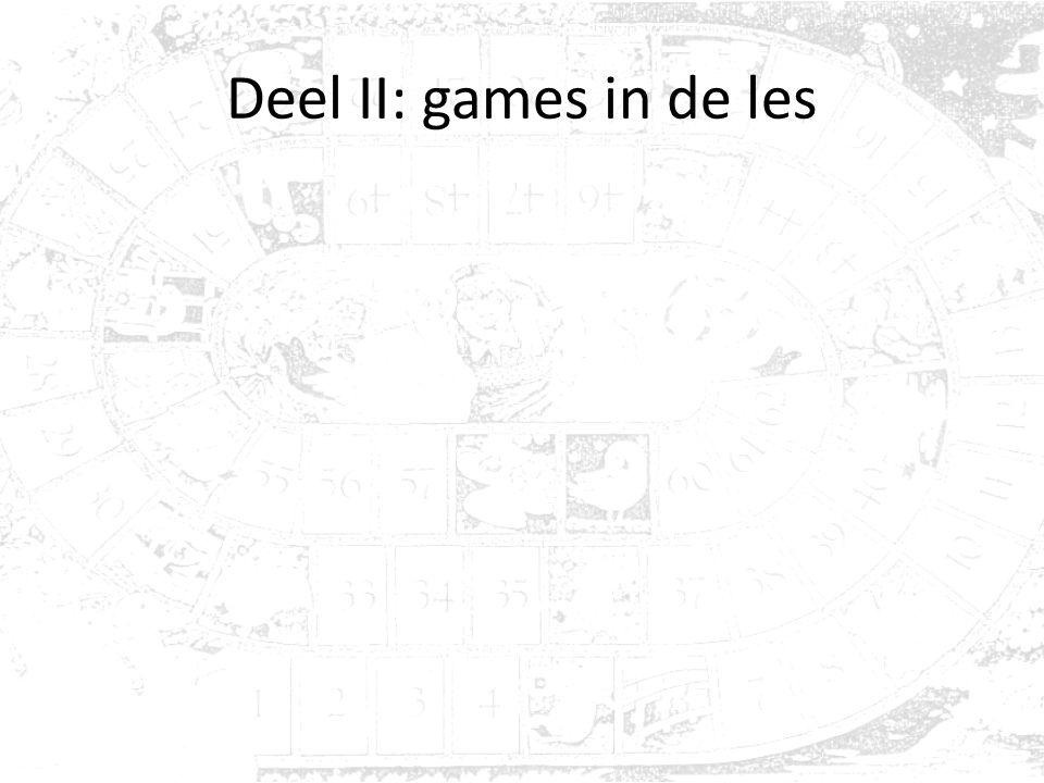 Deel II: games in de les