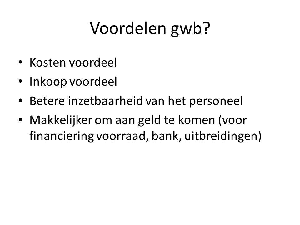 Voordelen gwb.